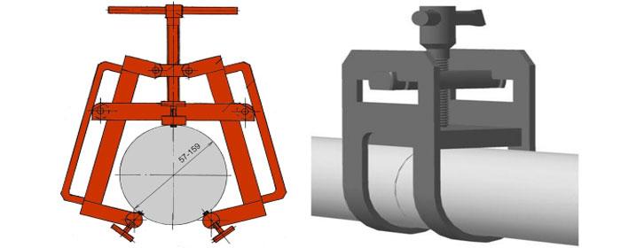 Фиксация труб для соблюдения зазора